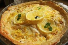 Torta classica del limone Immagini Stock Libere da Diritti