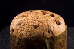 Torta cocida al horno panettone Foto de archivo libre de regalías