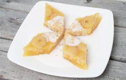 Torta cocida al vapor vietnamita del plátano Imágenes de archivo libres de regalías