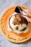 Torta cocida de Alaska Fotos de archivo libres de regalías