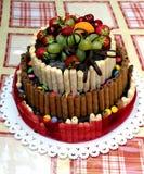 Torta coloreada sabrosa Foto de archivo libre de regalías