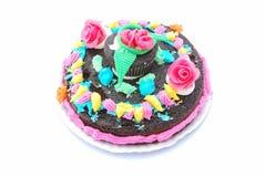 Torta colorida de los cabritos Fotografía de archivo