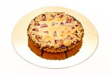 Torta com ameixa Fotografia de Stock