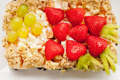 Torta com bagas Foto de Stock Royalty Free