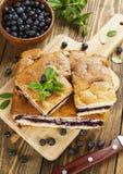 Torta com bagas Foto de Stock