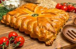 Torta com cebolas e ovos Imagem de Stock