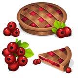 Torta com corinto vermelho imagens de stock royalty free
