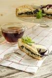 Torta com espinafres e ovos Fotos de Stock