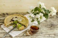Torta com espinafres e ovos Fotos de Stock Royalty Free