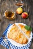 Torta com pêssegos Imagem de Stock Royalty Free