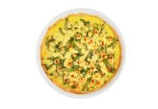 Torta com queijo, aspargo e ervas Fotografia de Stock Royalty Free
