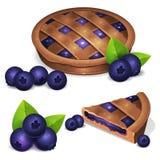 Torta com uva-do-monte fresca fotografia de stock royalty free