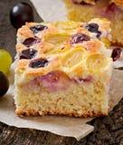 Torta com uvas Foto de Stock