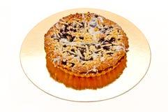 Torta com uvas-do-monte Imagens de Stock