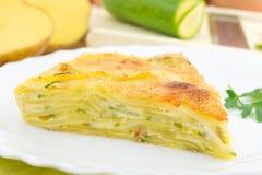 Torta com vegetais imagens de stock royalty free