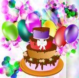 Torta comemorativo em um fundo abstrato Imagem de Stock