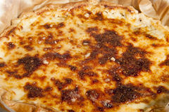 Torta con asparago Fotografie Stock Libere da Diritti