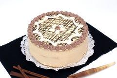 Torta con cannella Fotografia Stock