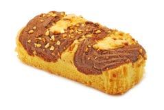 Torta con cioccolato e vaniglia Fotografia Stock Libera da Diritti