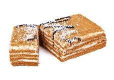 Torta con crema Fotografía de archivo