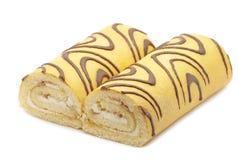 Torta con crema bianca Fotografia Stock