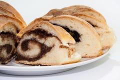 Torta con crema del cacao Imagenes de archivo
