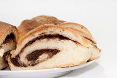 Torta con crema del cacao Imagen de archivo