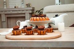 Torta con el chocolate Imagen de archivo
