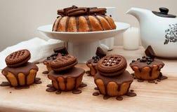 Torta con el chocolate Foto de archivo libre de regalías