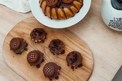 Torta con el chocolate Fotos de archivo