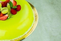 Torta con el chocolate verde claro Fotos de archivo libres de regalías