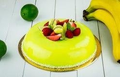 Torta con el chocolate verde claro Fotos de archivo