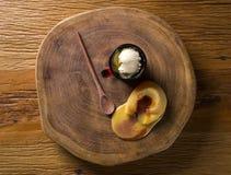 Torta con fresco, helado de la guayaba imagenes de archivo