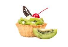 Torta con il kiwi Fotografia Stock