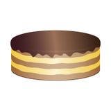 Torta con la crema del cioccolato Immagine Stock