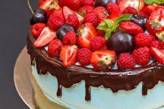 Torta con la fruta fresca Fotos de archivo libres de regalías