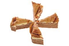 torta con la galleta Foto de archivo
