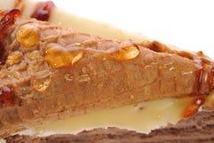 Torta con la galleta Foto de archivo libre de regalías