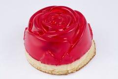 Torta con la jalea en la forma de una rosa Fotos de archivo