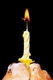 Torta con la vela Fotografía de archivo libre de regalías