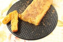 Torta con la zanahoria y las naranjas Imagen de archivo libre de regalías