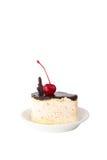 Torta con las cerezas Foto de archivo