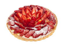 Torta con las fresas imagen de archivo libre de regalías