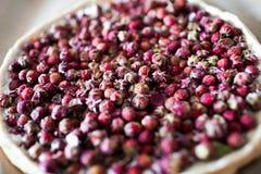 Torta con las fresas salvajes Foto de archivo libre de regalías