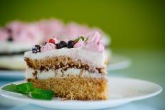 Torta con las pasas Foto de archivo libre de regalías
