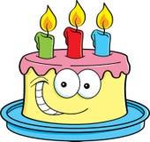 Torta con las velas ilustración del vector