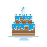 Torta con las velas Foto de archivo libre de regalías