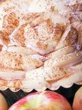 Torta con le mele Fotografia Stock