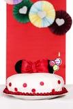 Torta con los oídos de Minnie Mouse Imagen de archivo