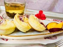 Torta con queso del ricotta Imágenes de archivo libres de regalías